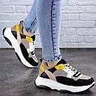 Жіночі різнокольорові кросівки Fashion Pepita 2043 36 розмір 23 см Чорний, фото 2