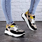 Жіночі різнокольорові кросівки Fashion Pepita 2043 36 розмір 23 см Чорний, фото 6