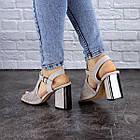 Жіночі босоніжки Fashion Punkin 1857 36 розмір, 23,5 см Сірий, фото 3