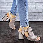 Жіночі босоніжки Fashion Punkin 1857 36 розмір, 23,5 см Сірий, фото 4