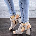 Жіночі босоніжки Fashion Punkin 1857 36 розмір, 23,5 см Сірий, фото 6