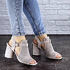 Жіночі босоніжки Fashion Punkin 1857 36 розмір, 23,5 см Сірий, фото 7
