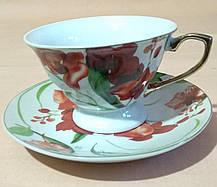 """Набор чайный - 2 чашки и 2 блюдца на металлической подставке """"SТ"""", фото 3"""