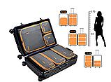 Набор органайзеров для путешествий Bagsmart Серый с оранжевым (FBBM0104087AN008BS), фото 2