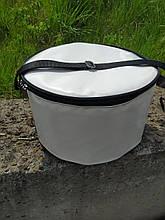Круглая термосумка для торта или круглой ёмкости. Сумка для торта ПВХ