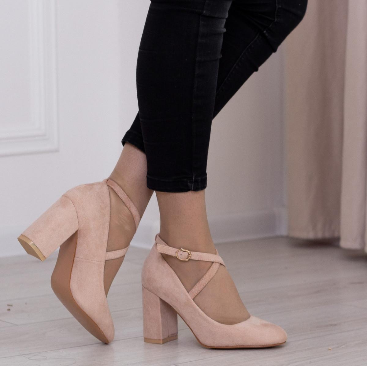 Туфлі жіночі Fashion Coco 2511 36 розмір, 23,5 см Бежевий