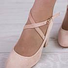 Туфлі жіночі Fashion Coco 2511 36 розмір, 23,5 см Бежевий, фото 3