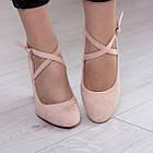 Туфлі жіночі Fashion Coco 2511 36 розмір, 23,5 см Бежевий, фото 4