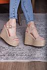 Женские босоножки Fashion Xaram 2672 39 размер 25 см Бежевый, фото 4