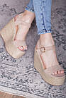 Женские босоножки Fashion Xaram 2672 39 размер 25 см Бежевый, фото 5