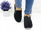 Женские стильные слипоны Fashion Muffin 1006 39 размер 23,5 см Черный, фото 2