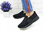 Женские стильные слипоны Fashion Muffin 1006 39 размер 23,5 см Черный, фото 4