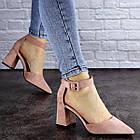 Женские туфли на каблуке Fashion Hoagie 1943 39 размер 25,5 см Розовый, фото 2