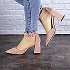 Женские туфли на каблуке Fashion Hoagie 1943 39 размер 25,5 см Розовый, фото 3