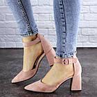 Женские туфли на каблуке Fashion Hoagie 1943 39 размер 25,5 см Розовый, фото 4