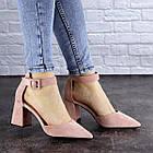 Женские туфли на каблуке Fashion Hoagie 1943 39 размер 25,5 см Розовый, фото 5