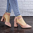 Женские туфли на каблуке Fashion Hoagie 1943 39 размер 25,5 см Розовый, фото 6
