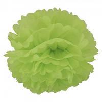 Декор бумажные Помпоны 20см зеленый