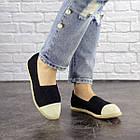 Жіночі еспадрільї Fashion Kasem 1218 37 розмір 23,5 см Чорний текстиль, фото 3