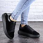 Кеды женские Fashion Alenie 2101 39 размер 24,5 см Черный, фото 7