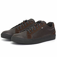 Кроссовки мужские летние кеды сникерсы кожаные коричневые обувь Rosso Avangard Puran Brown Floto Perf TPR