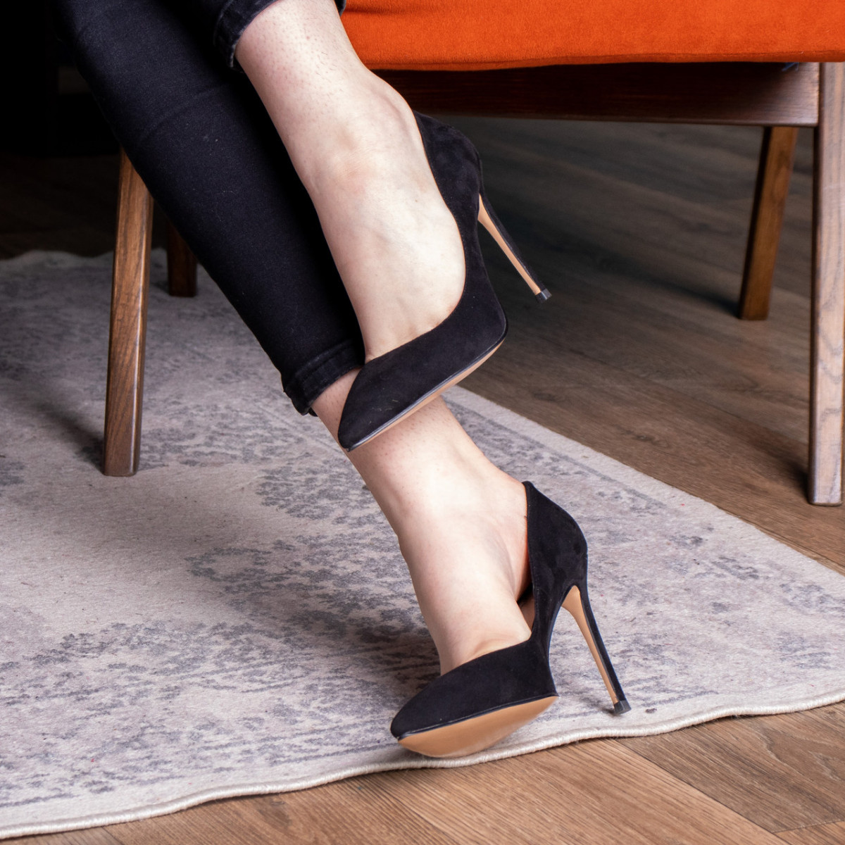 Туфли женские Fashion Tia 2451 36 размер 23,5 см Черный