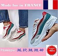 Женские кроссовки на массивной подошве, фирменные, летние, стоковые.