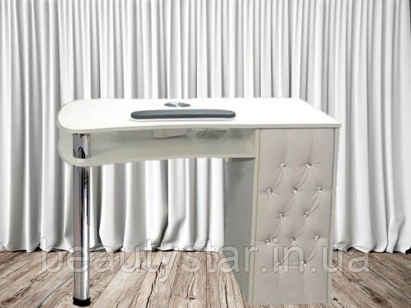 Стіл для майстра манікюру з однією тумбою компактний манікюрний столик для салону краси 100*60*74h VM133