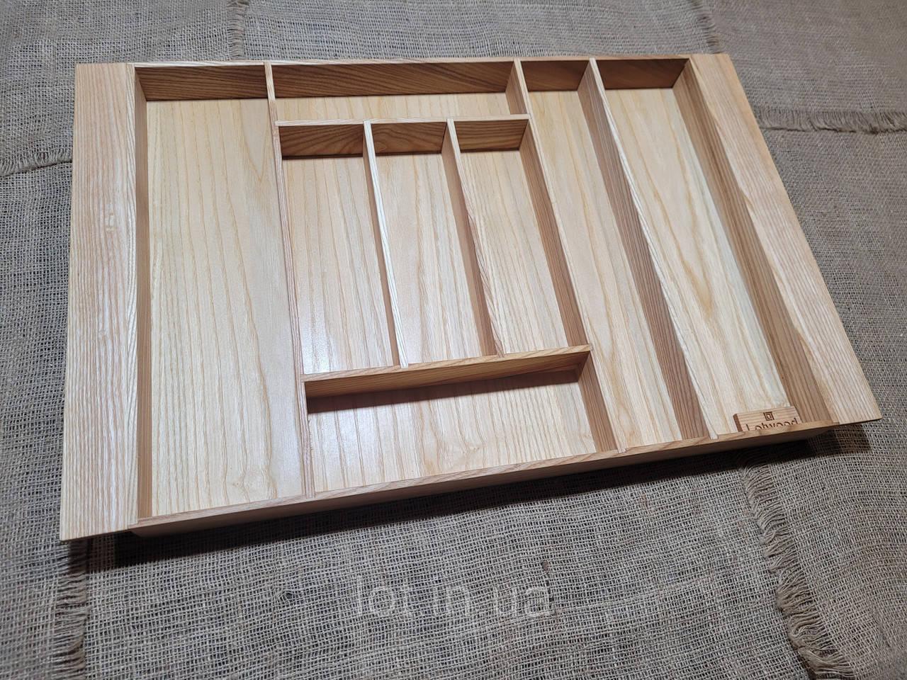 Лоток для столовых приборов L 609-700.450 ясень