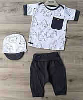 Детский летний костюм 6-18 мес для мальчиков Турция оптом