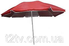 Зонт пляжный d1.8м Stenson MH-2686, красный