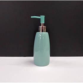 Дозатор для жидкого мыла A-PLUS керамический бирюзовый 210 BS