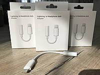 Перехідник AUX для навушників iPhone 7, 7 Plus, 8, 8+ X, XR адаптер LIGHTNING 3.5
