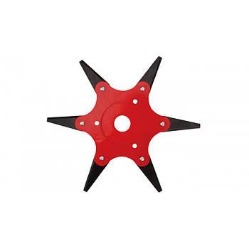 Нож для мотокосы сегментный с 6-мя закаленными лезвиями