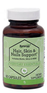 Vitacost Synergy Hair Skin & Nails с MSM, биотином, кремнием, витаминами, минералами, аминокислотами 60 капс
