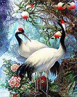 Картина по номерам рисование Чаривный диамант Журавли – Символ счастья и благополучия РКДИ-0067 40х50см набор