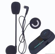 Блютуз гарнитура с системой интерком Мото-гарнитура FreedConn T-COM-Osc FM радио, фото 3