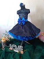 Дитяче плаття в горох. Універсальний розмір спинка на резинці. Будь-які розміри і кольори, фото 5