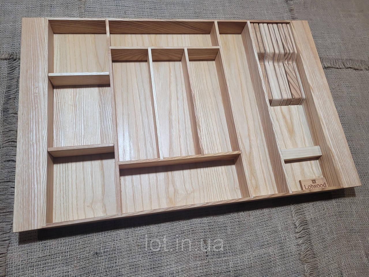 Лоток для столовых приборов LР8М1Т 609-700.450 ясень