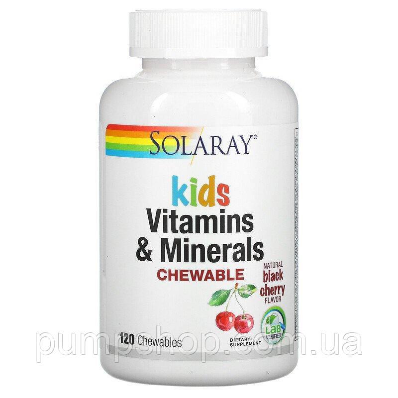 Вітамін для дітей Solaray Vitamin Kids&Minerals Chewable 120 таб.