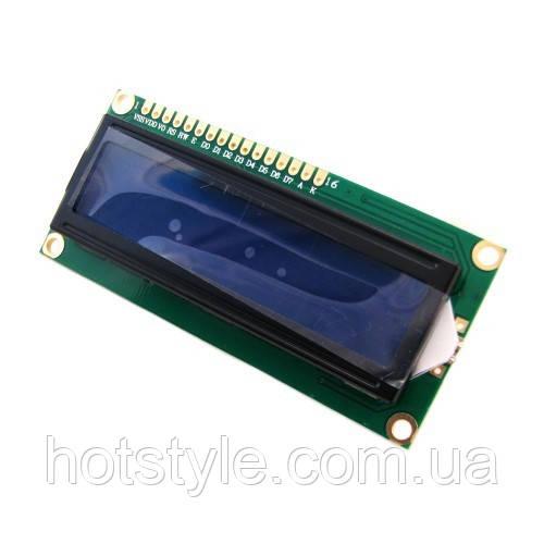 LCD 1602 модуль для Arduino, ЖК дисплей, 16х2 blue, 102751