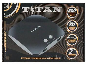 TITAN 3 игровая приставка Dendy+Sega   500 встроенных игр 8-16 бит   поддержка карт памяти