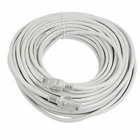 Патч-корд RJ45 17м, мережевий кабель UTP CAT5e 8P8C, LAN, синій, 105317