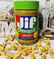 Арахисовое масло JIF кремовое с компексом OMEGA 3, вес 454грамм