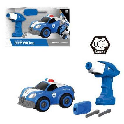"""Машинка-конструктор """"Полиция"""", 32 дет CJ-1365063"""