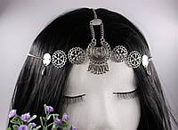 Ланцюжок Тіара прикраса на голову з кристалами Срібло, фото 1