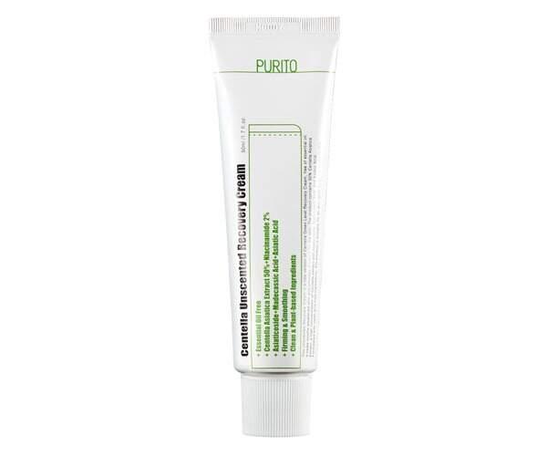 Крем с центеллой для чувствительной кожи Purito Centella Unscented Recovery Cream 50 мл