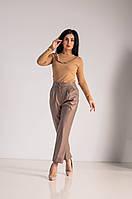 Классические женские брюки из эко-кожи, фото 1