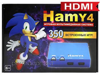 HAMY 4  HDMI игровая приставка Sega+Dendy   350 встроенных игр 8-16 бит   поддержка карт памяти   чёрная