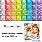 """Алмазная вышивка """"Рыжие котята"""" Белоснежка 20х20 см, фото 5"""